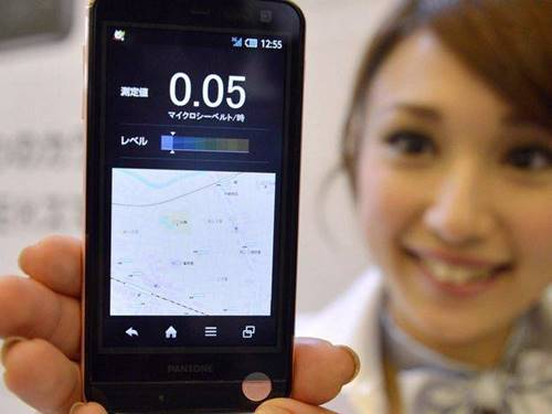 Smartphone japonês com medidor de radioatividade