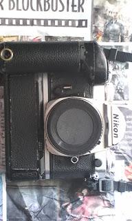 nikon fm3a silver dengan MD-12