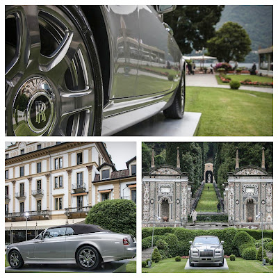 Rolls Royce Phantom at Villa d'Este in Como Lake