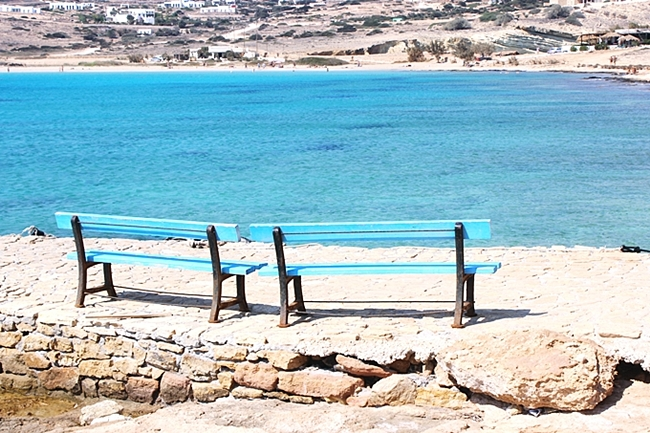 Pori bay & Pori beach,Koufonisia island Greece.Koufonisia Koufonissi beaches.Kufonisija plaze.Koufonisia travel guide.
