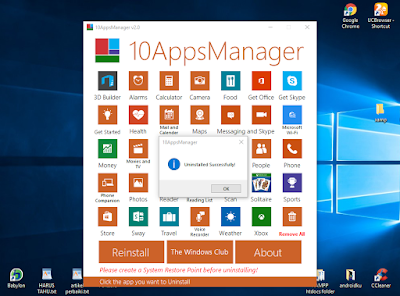 Gunakan Software 10AppsManger Untuk Uninstall Program Di Windows 10
