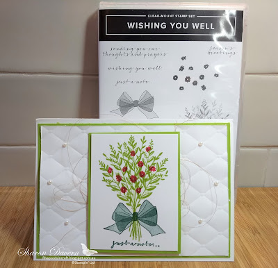 Wishing You Well. Granny Apple Green, Just a note cards, Colour Creations Blog Hop, Art with heart, Stampin' up