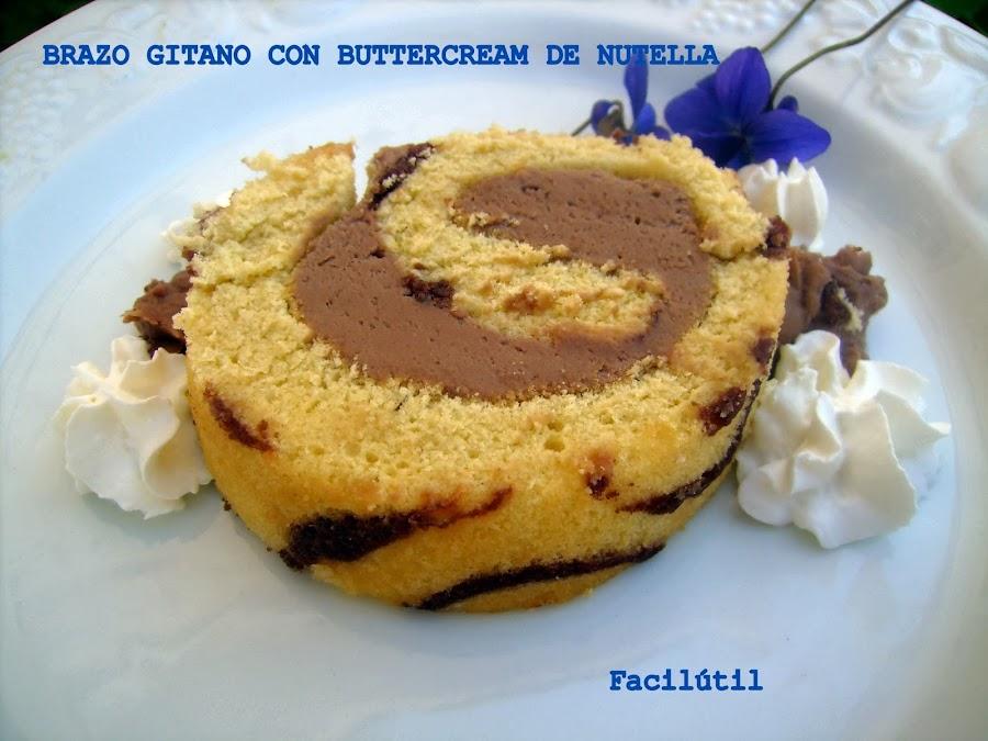 brazo-gitano-decorado-relleno-de-buttercream-de-nutella