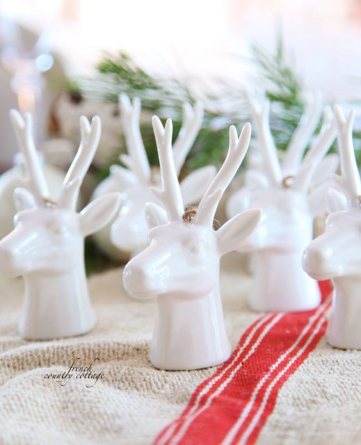 And A Bevy Of Beautiful White Reindeer Ornaments
