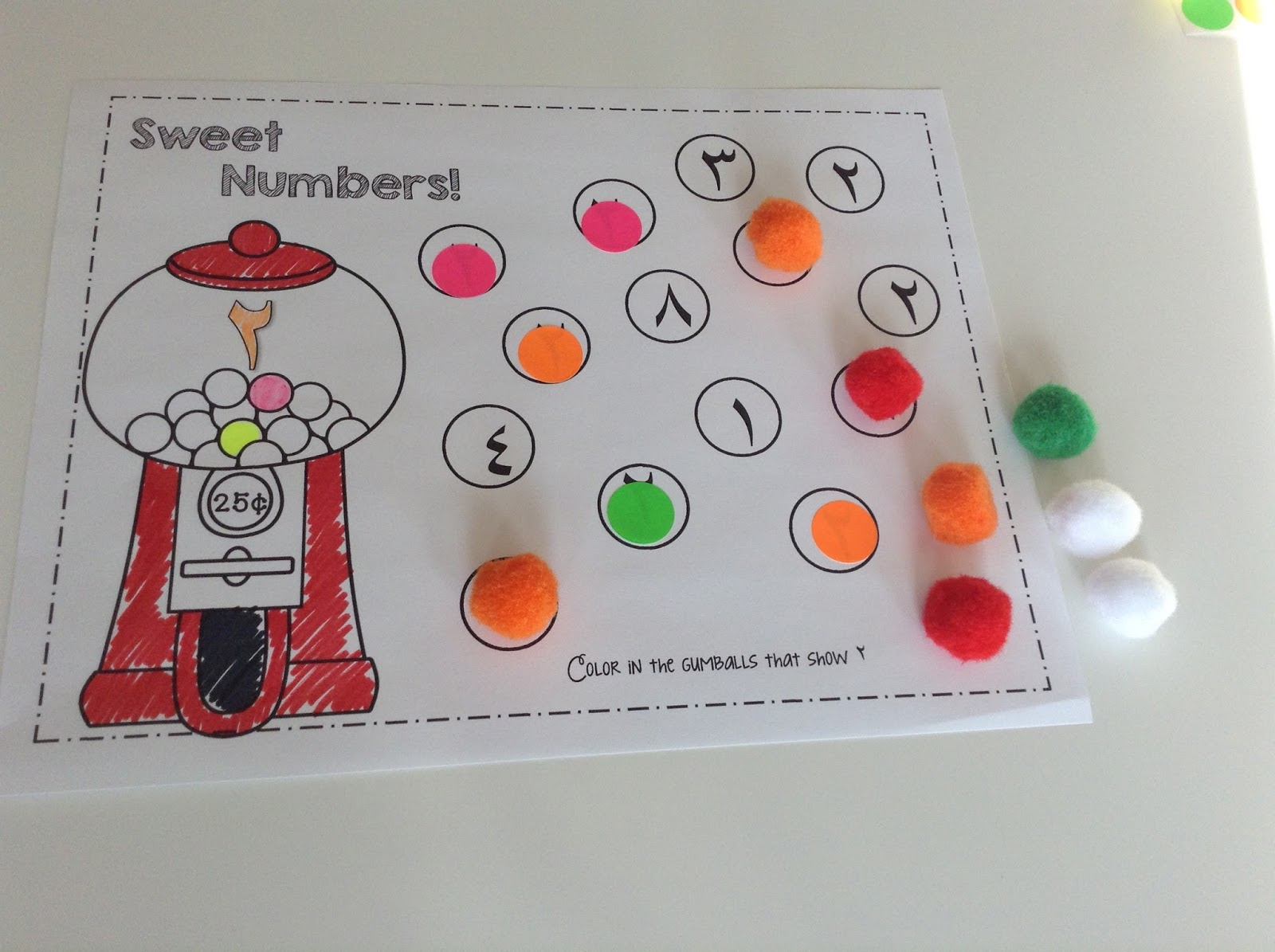 Teachermomplus3 Arabic Numbers Bingo Dauber Printables