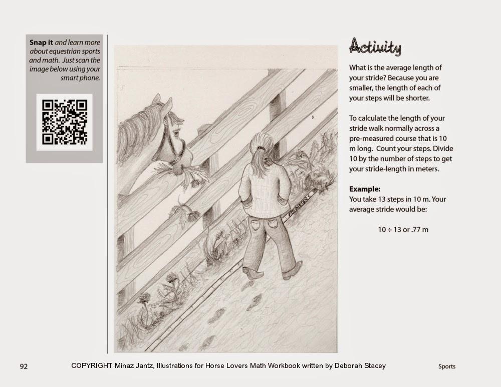 illustration by Minaz Jantz  for Horse Lovers Math author Deborah Stacey