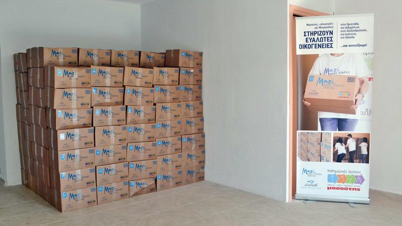 Αλεξανδρούπολη: Διανομή τροφίμων σε απόρους από την ΑΠΟΣΤΟΛΗ και τον ΜΑΣΟΥΤΗ