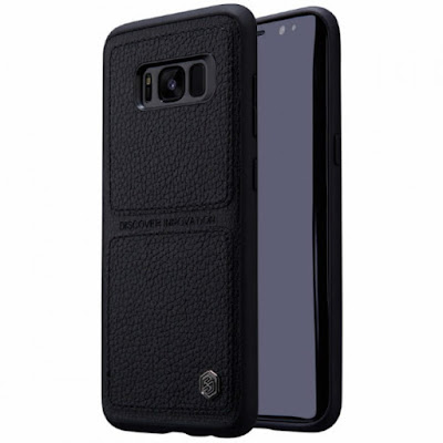 NILLKIN BURT LEATHER BACK CASE SAMSUNG GALAXY S8 BLACK
