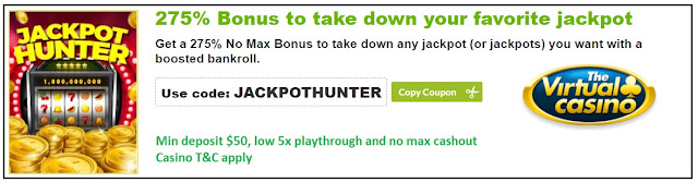 Virtual casino Jackpot Hunter bonus coupon