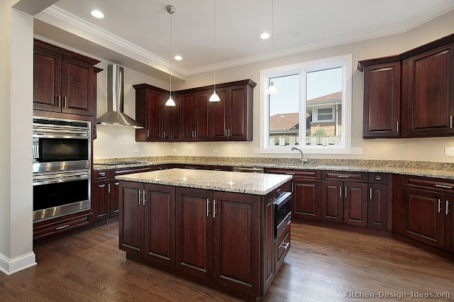 Kitchen Cabinets Traditional Dark Wood