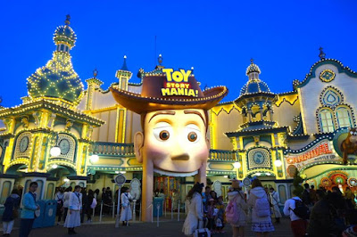 Toy Story Mania at Night Tokyo Disneysea Japan