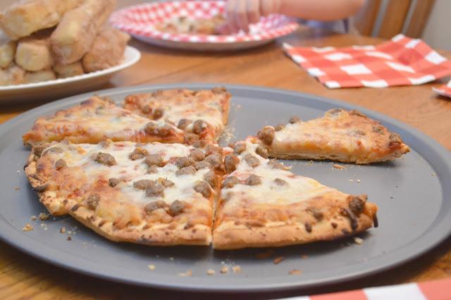Family Pizza Night + Churro Sticks, homemade churros, cinnamon and sugar churros, churro sticks with cinnamon and sugar, side dish for pizza night, desserts for pizza night, desserts, churros, churro recipes, easy churro recipes, easy churros