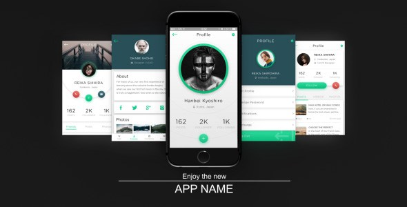 app presentation – free after effects template - free download, Powerpoint templates