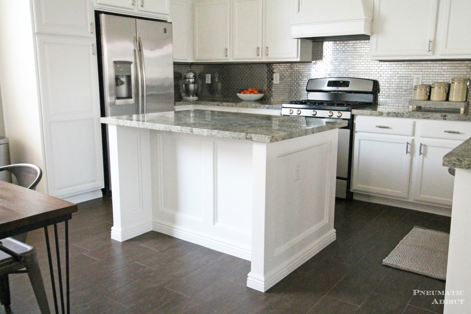 stacked cabinet kitchen makeover cabinets for kitchen island Stacked Cabinet Kitchen Makeover