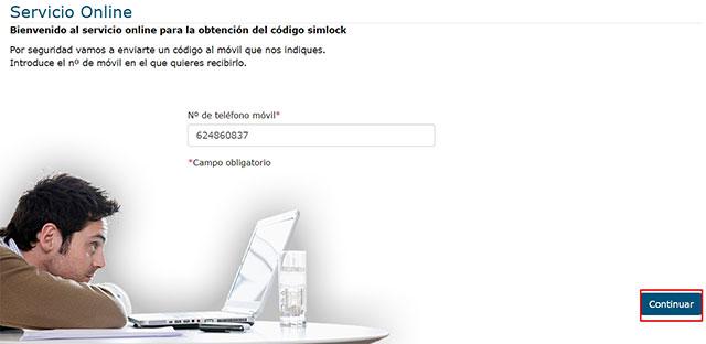 código simlock para teléfonos Movistar españa