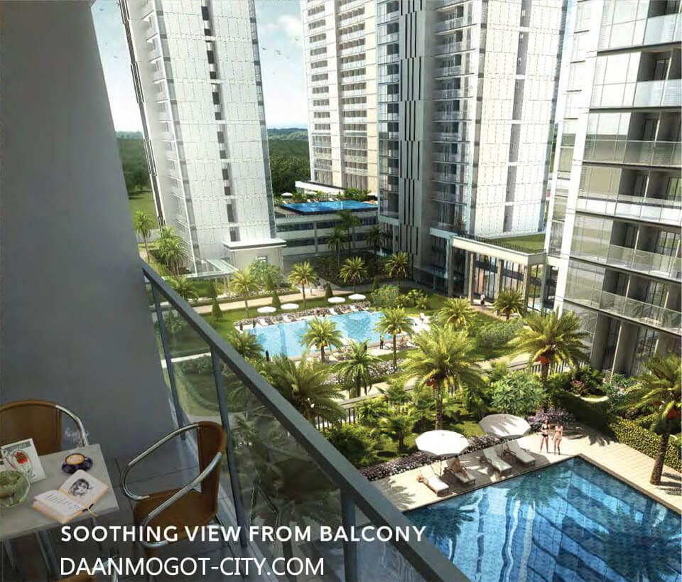 Apartemen DAMOCI view dari balcony