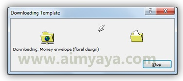 Gambar: Proses download template amplop