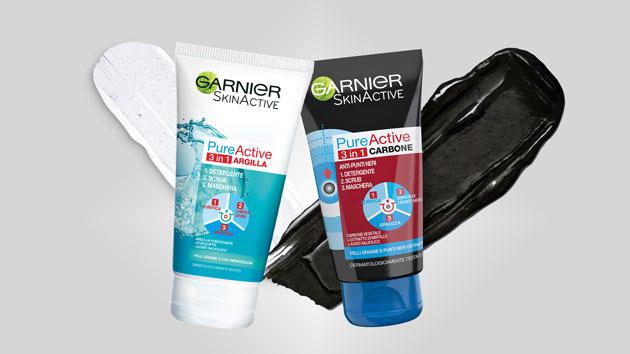 clicca qui per candidarti come tester di Garnier Pure Active 3 in 1 carbone e argilla