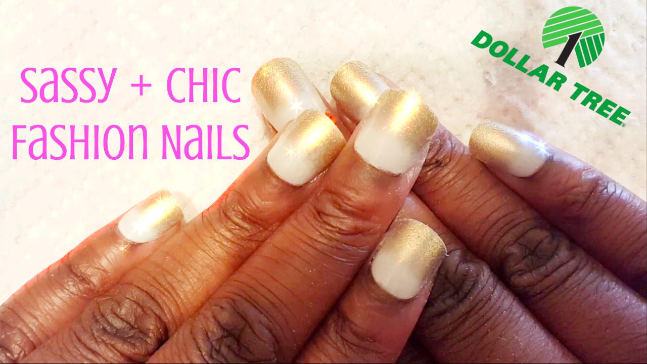 Hypnotic Glamour Beauty Blog: Sassy + Chic White & Gold Glitter Tip ...