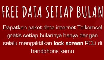 Roli gratis kuota internet