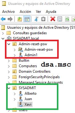 Active directory delegar restablecer contrase a sysadmit - Restablecer contrasena ...