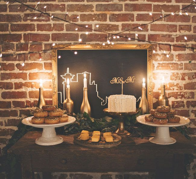 Foodie Wedding Inspiration -  wedding dessert table