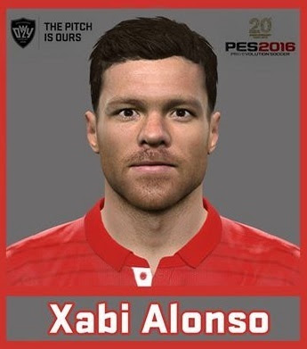 PES 2016 Xabi Alonso Face