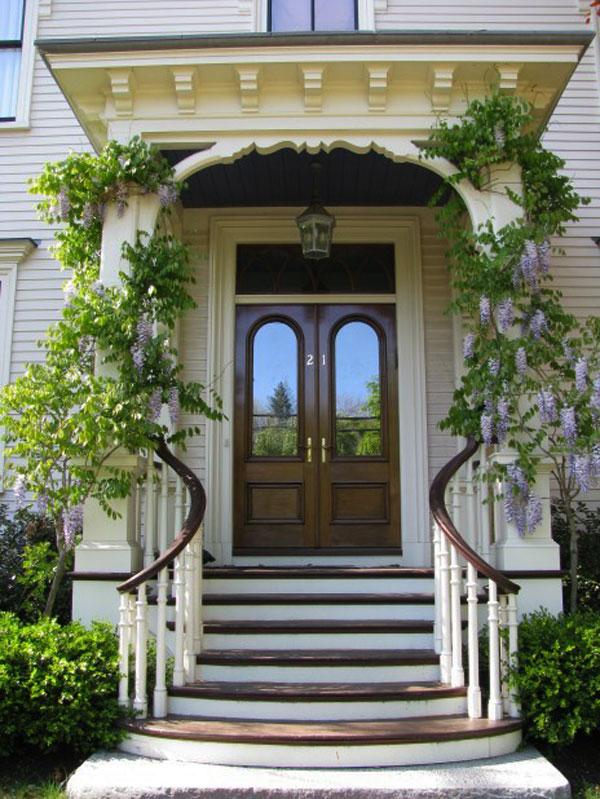 Hogares frescos 30 dise os inspiradores para la entrada for Escaleras entrada casa