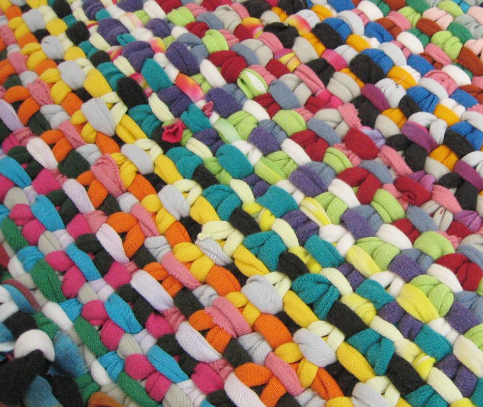 T-shirt Yarn Rug Progress