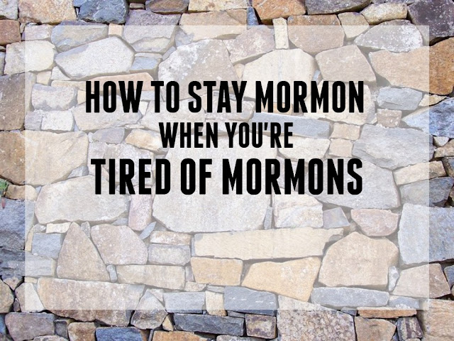 When you're tired of Mormons | We&Serendipity