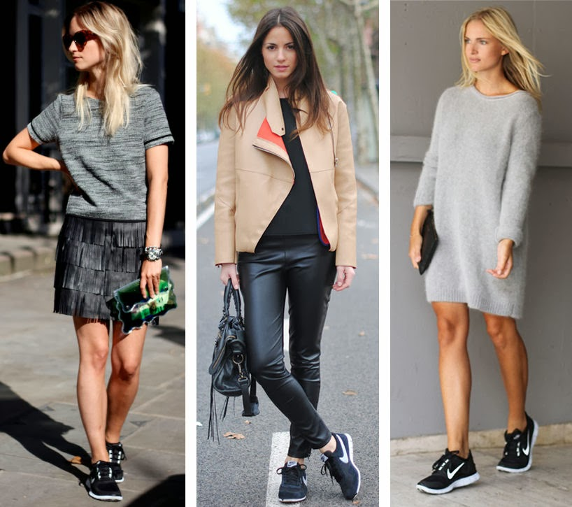 huge selection of f1c47 14c51 ... through any fashion blog right now without seeing sneakers paired with  skirts, leather joggers, white tees and even adidas soccer pants with open  toe ...