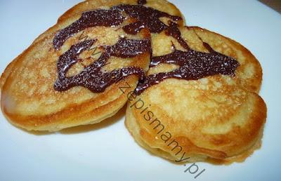 """Pancakes """"Placuszki z sosem czekoladowym"""""""