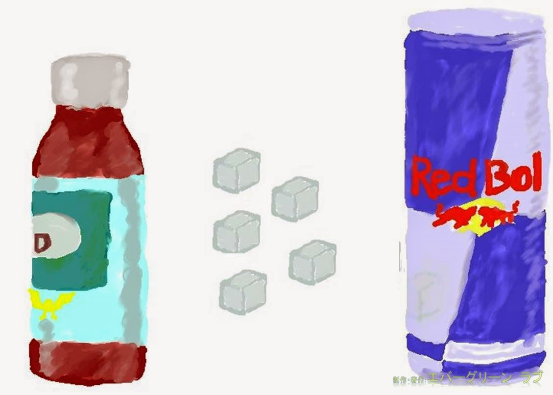エナジードリンク, エネルギードリンク, カフェイン, 習慣性, 耐性, 糖質, 糖質量, ナトリウム(塩分),