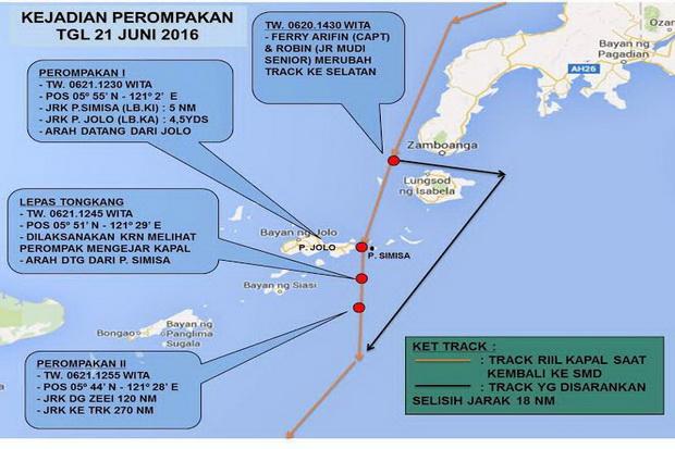 TNI AL Ungkap Kronologi Penyanderaan 7 WNI di Perairan Filipina