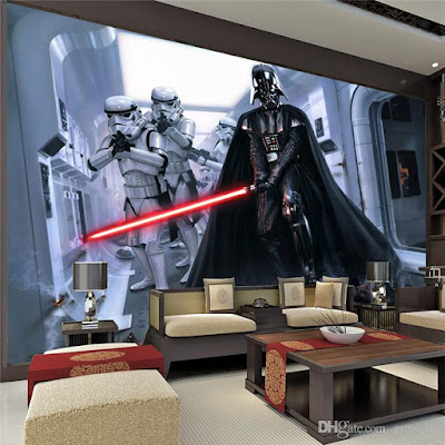star wars tapet darth vader barntapet fototapet barnrum stormtrooper