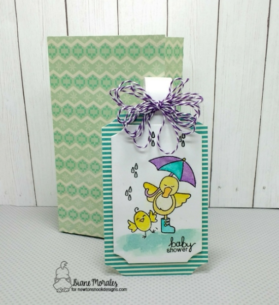 Baby shower by Diane features Hello Spring and Spring Showers by Newton's Nook Designs; #newtonsnook