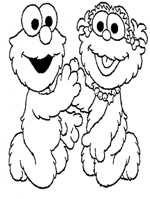 Gambar Mewarnai Elmo - 19