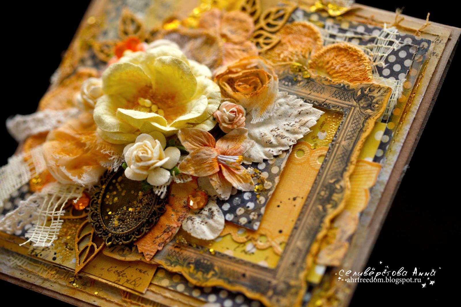 Картинки, золотая открытка