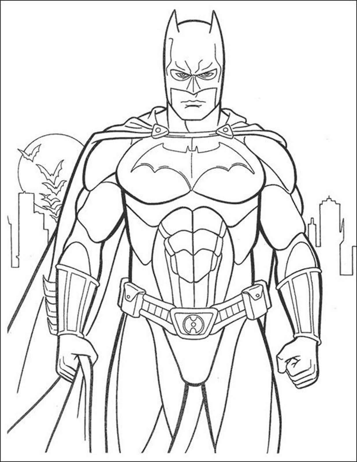 Mewarnai Gambar Kartun Super Hero Keren Bestkartun