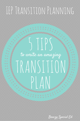 What to include in a transition plan in the IEP
