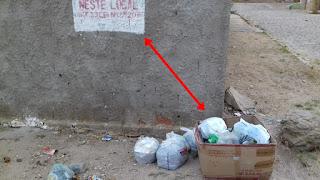 Em Picuí, moradores insistem em colocar lixo em locais proibidos. Será pirraça?
