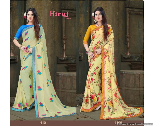 Hiraj vol 1 Nx Georgette Saree | Wholesaler