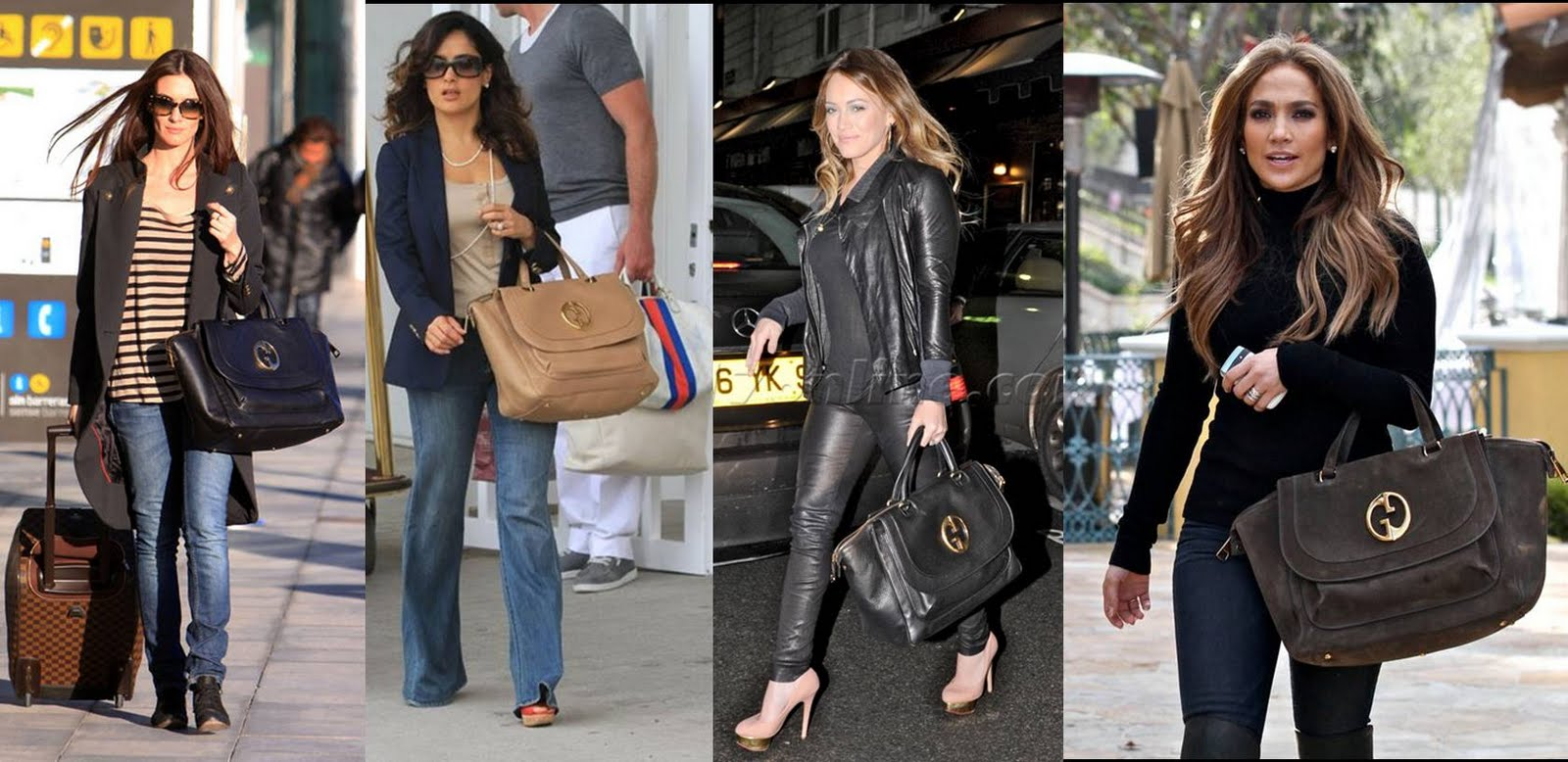 She Wanted A Leather Gucci Bag To Add Her Designer Handbags Collection Is Well Loved By Celebrities As Seen In The Pictures Below