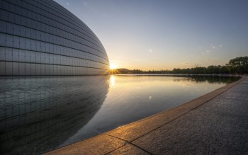 Wallpaper: China Beijing Sunset National Grand Theatre