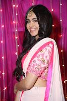 Adaa Sharma in White Pink Saree at Zee Telugu Apsara Awards 2017 39.JPG
