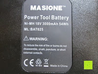 Info: Masione® Bohrmaschinenakku Ersatz Akku 18V 3000mAh NI-MH Batterie Für Bosch 13618 1662B 23618 33618 BAT025, BAT026, BAT160, BAT180, BAT181, BAT189 Rot & Schwarz