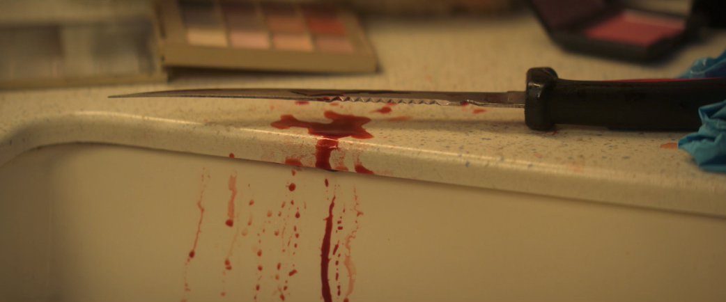 Escena del asesinato de Dee DeeBlanchard en 'The Act'