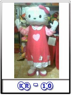 gambar kostum badut hello kitty daster 2016
