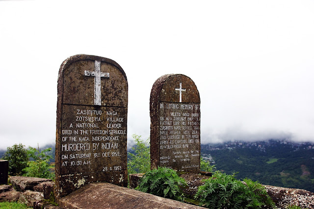 tombs dedicated to naga freedom fighters jotsoma village