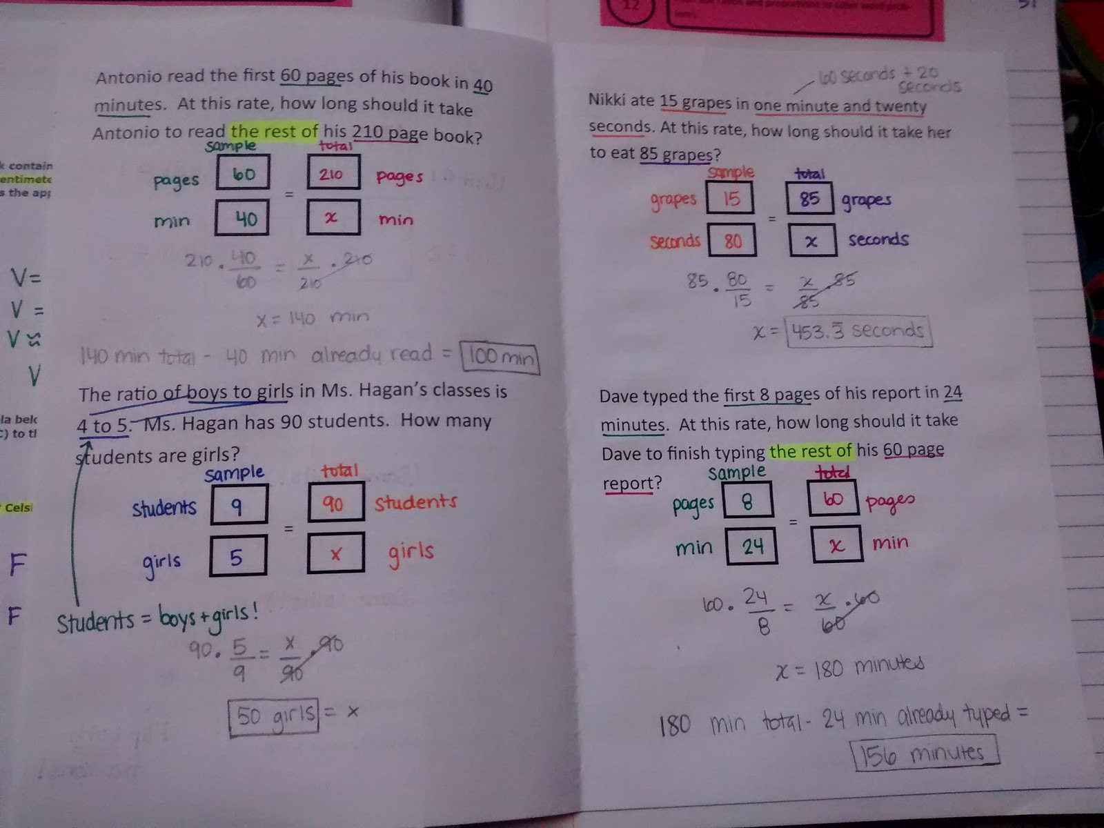 Math Love Solving Word Problems with Ratios and Proportions – Solving Proportions with Variables Worksheet